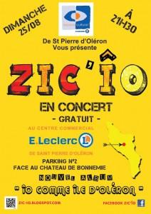 Laradavisse production Flyers A5 concert du 25.08 Leclerc RECTO